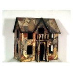 "House #1 (Wood, Paper, Acrylic, 1995, 28x14x32"")"