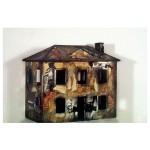"House #2 (Wood, Paper, Acrylic, Photo, 1995, 27x13x31"")"