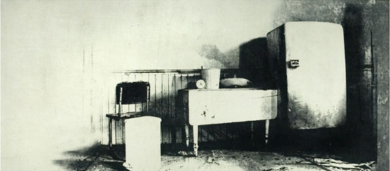 "Exhibitions (Flashbulb Memories (1997, 15x35"", 22x41""))"