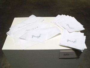 Tracy Templeton Faculty Exhibition: Somewhere in Between Grief Handkerchiefs