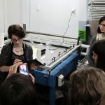 Tracy Templeton Performing Printmaking Lecture and Demonstration in Torun, Poland