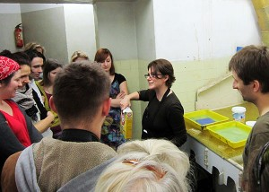 Tracy Templeton Performing Printmaking Lecture and Demo in Warsaw, Poland